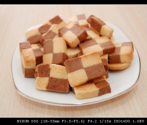 经典棋格饼干的做法