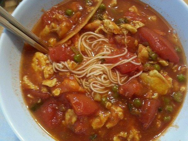 西红柿鸡蛋打卤面的做法