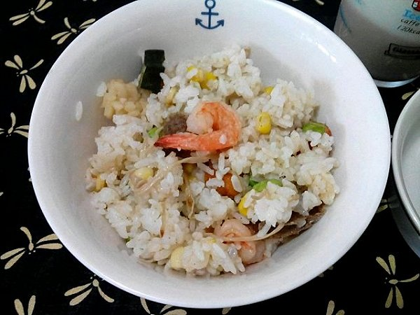 海鲜杂菜炒饭