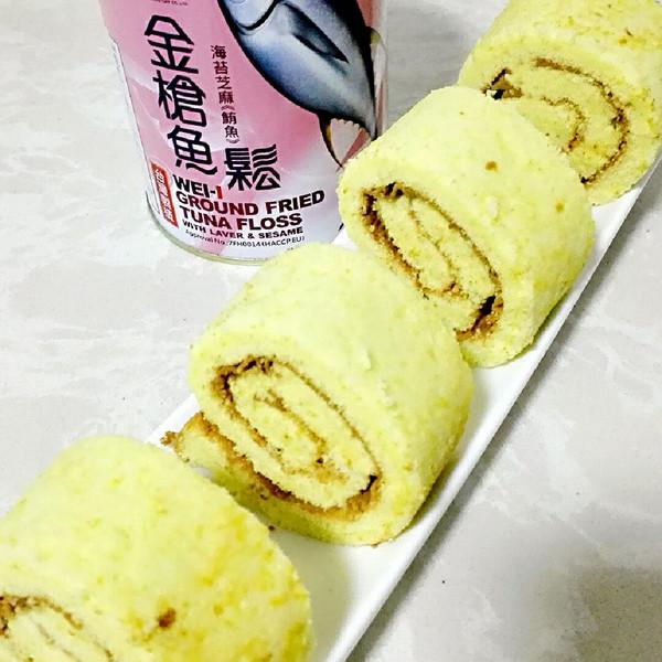 逍遥食光的金枪鱼蛋糕螃蟹卷肉松的v蛋糕成果照被做法划破图片