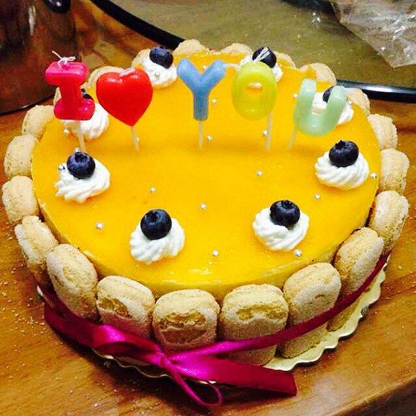 芒果木瓜做的 芒果慕斯蛋糕的做法