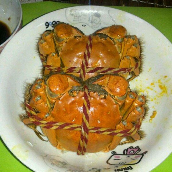 心静如水天天的简单易学的蒸螃蟹做法的学习成果照_豆果美食