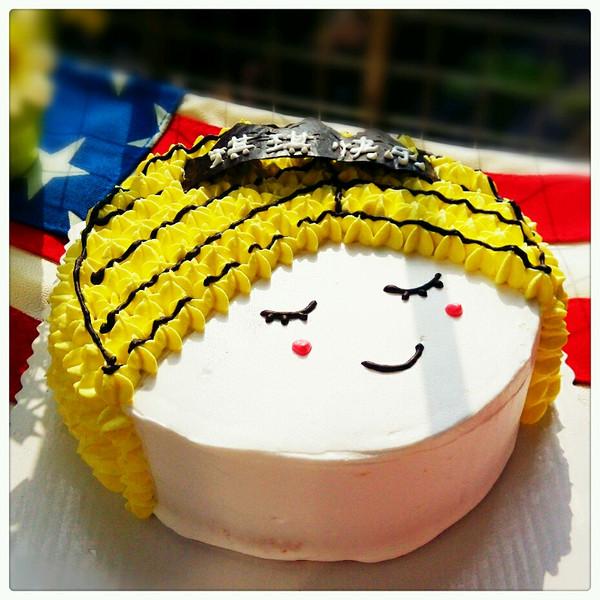 可爱娃娃头蛋糕