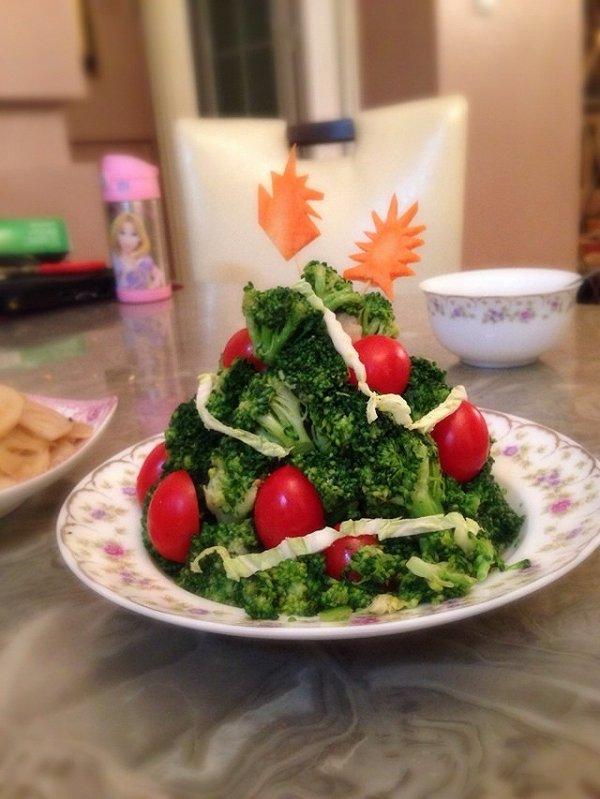圣诞树沙拉的做法