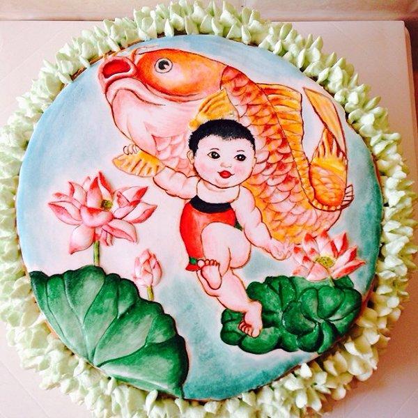 fiona19871017的手绘蛋糕做法的学习成果照