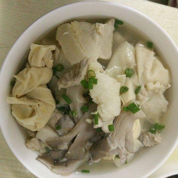 山寨强的鸡胸滑平菇汤沙拉的v山寨做法照肉片成果腌制图片