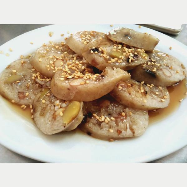 潮汕特色小吃之豬腸脹糯米