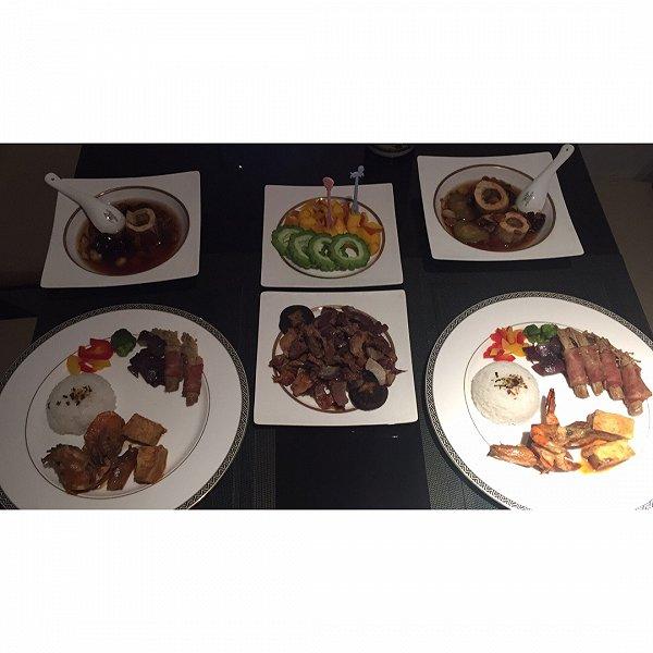 瑜酮的清炖培根骨汤沙茶冰糖虾牛尾金针菇烤玩什么红烧排骨放豆腐图片