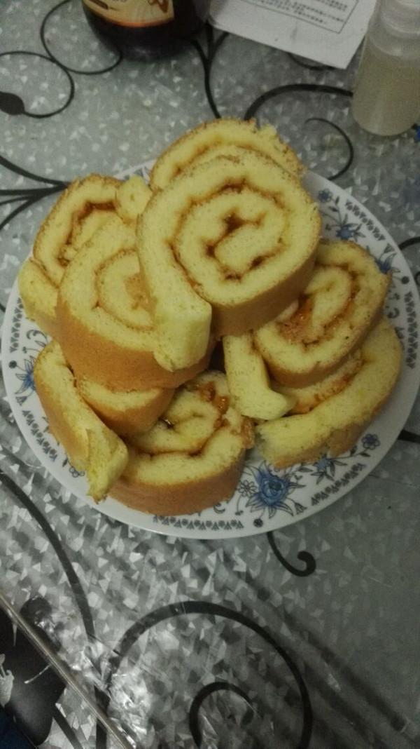 铛铛粑粑的果酱蛋糕卷做法的学习成果照_豆果美食