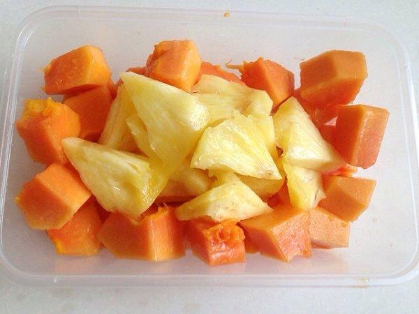 糖醋小果仁的木瓜菠萝做法的学习成果照