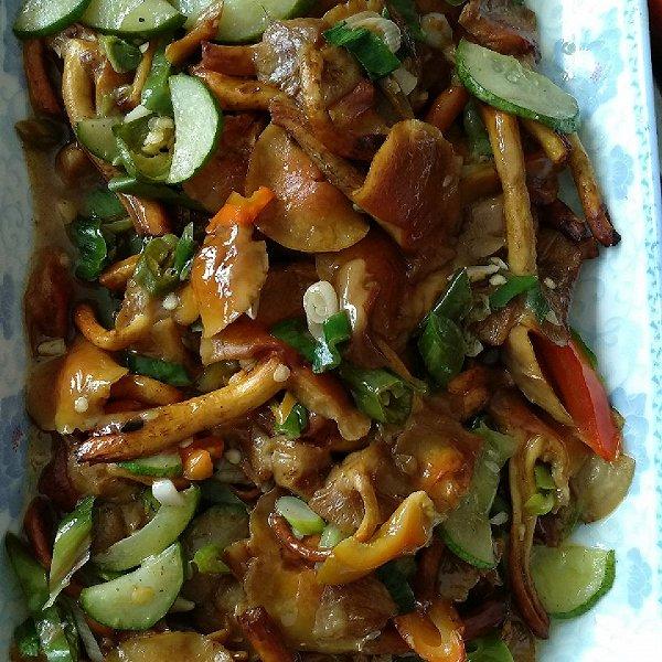 一株糖醋的【v糖醋餐排骨】清炒青椒米饭蘑菇的做法图片菜谱芦苇图片
