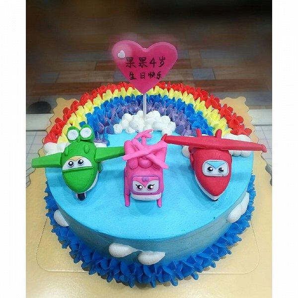 翻糖超级飞侠生日蛋糕