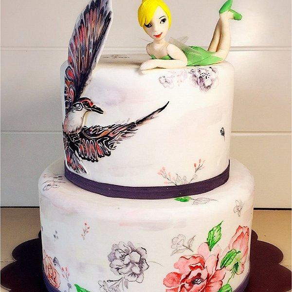僖儿2005的手绘花仙子蛋糕做法的学习成果照