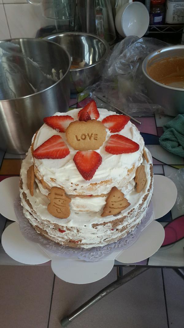 丙火神灯的欧式裸蛋糕做法的学习成果照