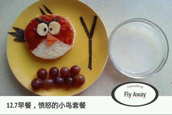 愤怒小鸟三明治的做法