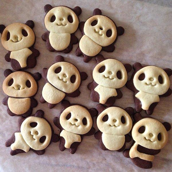 angebabe做的超萌熊猫饼干的做法
