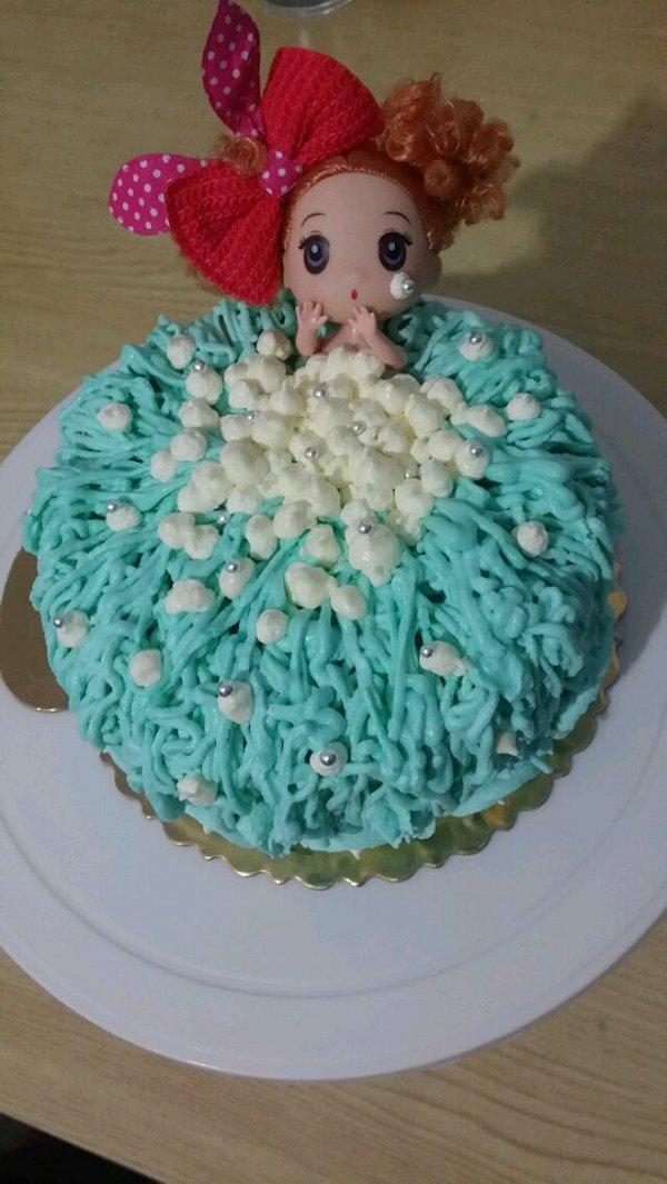 吴小二的公主娃娃洗澡蛋糕做法的学习成果照