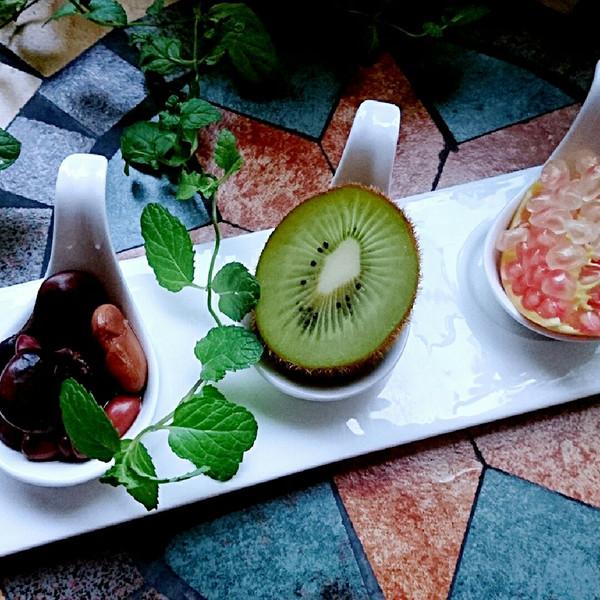 营养早餐 豆子+水果的做法