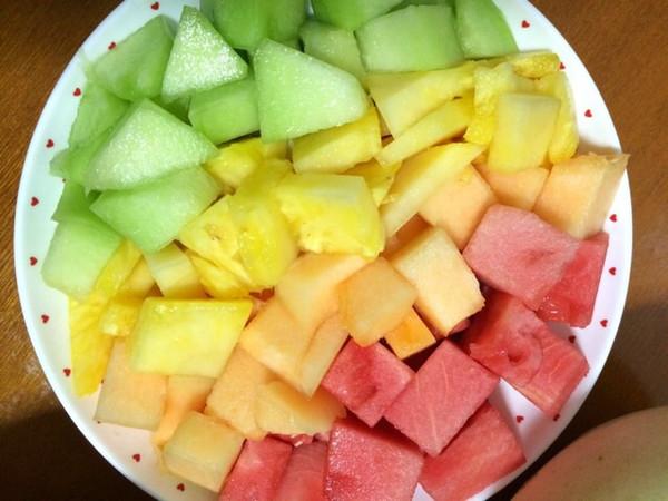 蜜糖唲的简单水果拼盘做法的学习成果照