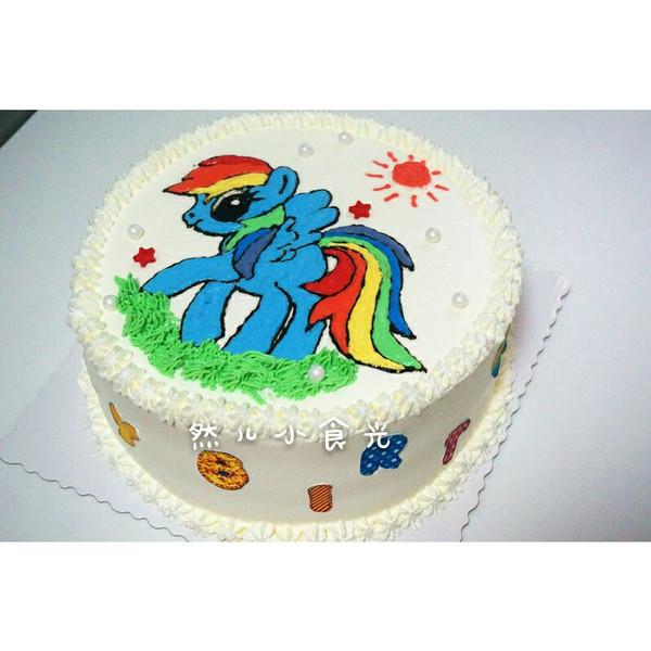 给同学家的小马宝宝做的生日蛋糕