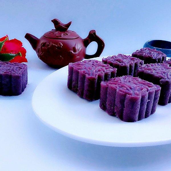 """蔓越莓紫薯月饼#享""""美""""味#的做法"""