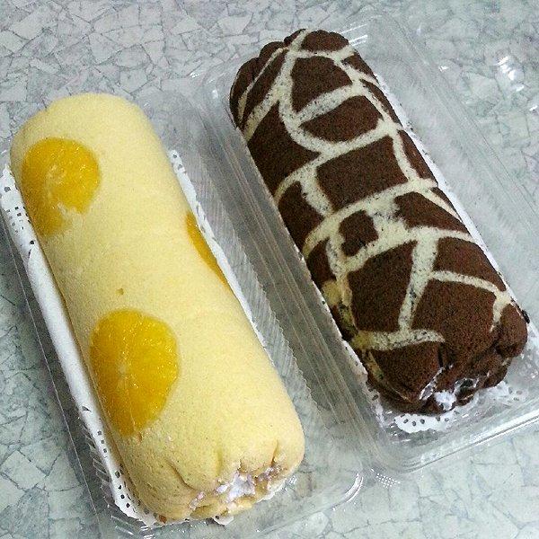 香橙蛋糕卷,长颈鹿花纹蛋糕卷