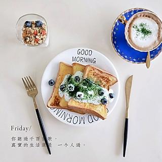 阿茶子的法式吐司+意式浓缩咖啡=美好的周末