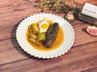 甜心Linda创意料理组的㊙️这样吃去腥又美味--葱烧蜂蜜鹌鹑蛋&海参