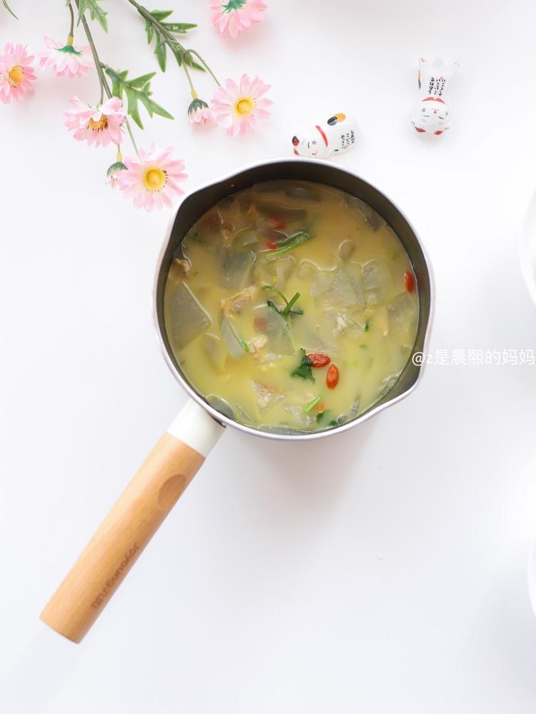 🌸早餐:花蛤冬瓜汤🍲+栗子酱夹心餐包图2