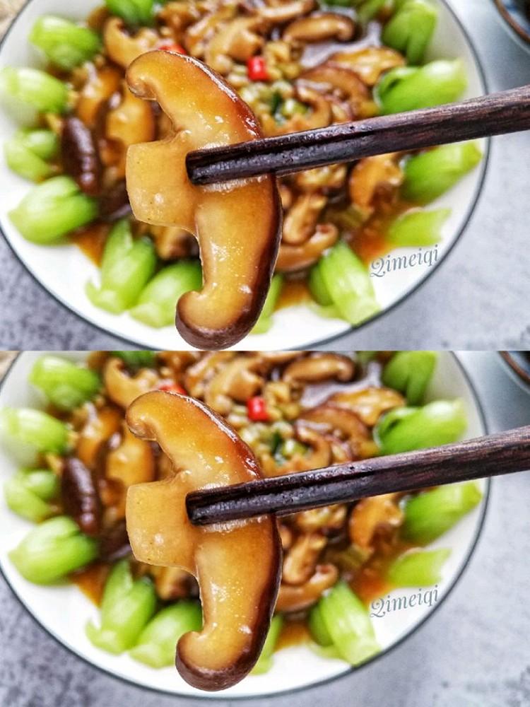 香菇炒油菜,简单易做,味道鲜美图2