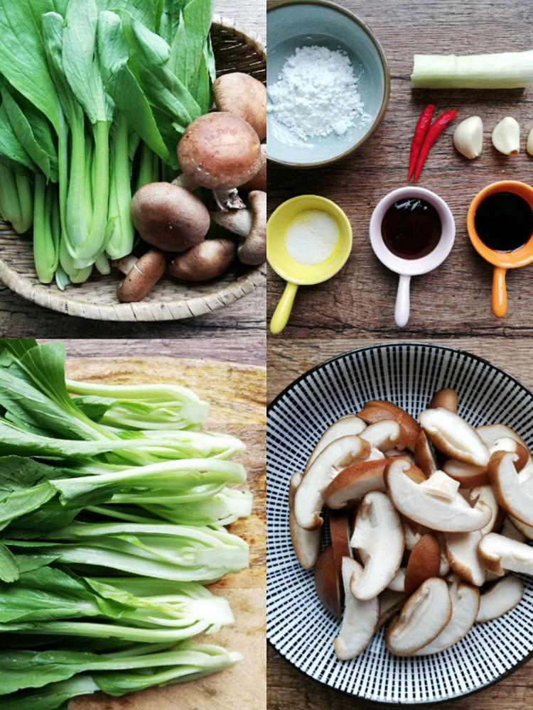 香菇炒油菜,简单易做,味道鲜美图3