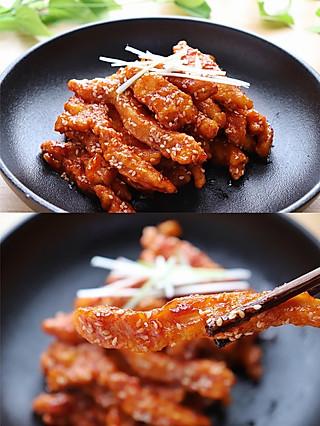 莫哂之的巨好吃的鸡肉做法❗️酸甜可口的糖醋鸡柳,好吃的停不下来