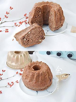 念心nianxin的可可坚果咕咕霍夫面包,加了坚果的面包,口感更香