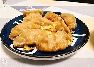 葱油拌面+鸡蛋煎饺