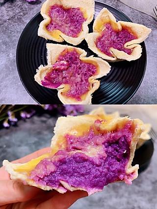 Lincf_v的🔥不加一滴糖和油,不用起酥就能做的吐司紫薯挞,宝宝都抢着吃