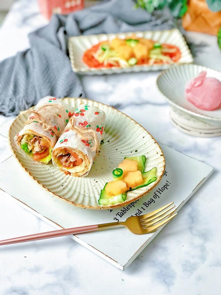 轻食早餐㊙️鸡肉时蔬卷饼🔥时蔬哈密瓜沙拉🥗图5