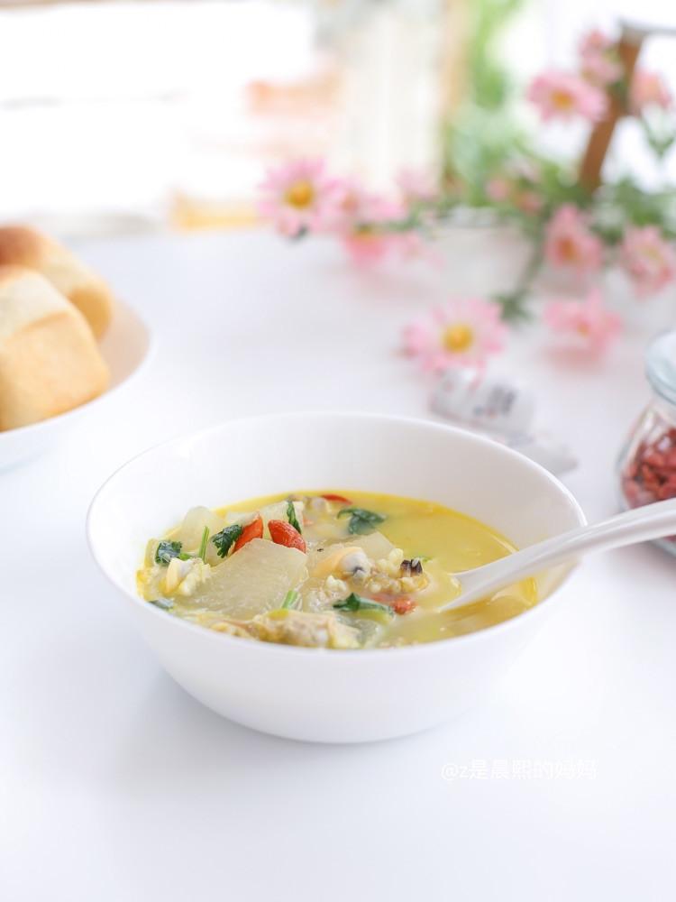 🌸早餐:花蛤冬瓜汤🍲+栗子酱夹心餐包图6