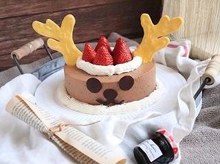 好吃的坨坨的呆萌麋鹿巧克力慕斯蛋糕