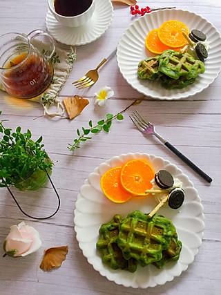 linglingxixi的菠菜绿,这华夫饼养眼清新