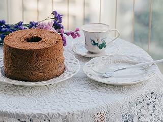 莉莉菲的【早餐°】紫米戚风蛋糕/卡布奇诺