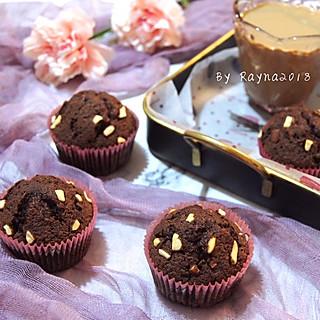 Rayna2018的无敌松软的花生布朗尼纸杯蛋糕🧁