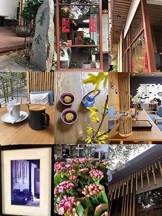君蛤蜊做包吃包的【探店】素朴中有新意:上海西佘山公园的青舍茶咖啡店