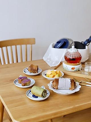 流浪的喵喵小姐的喵早餐—七色减脂饼⑥咖啡色紫薯泥