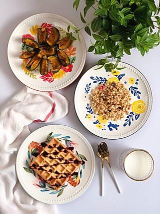 诗风的美好的早餐带来一天的好心情