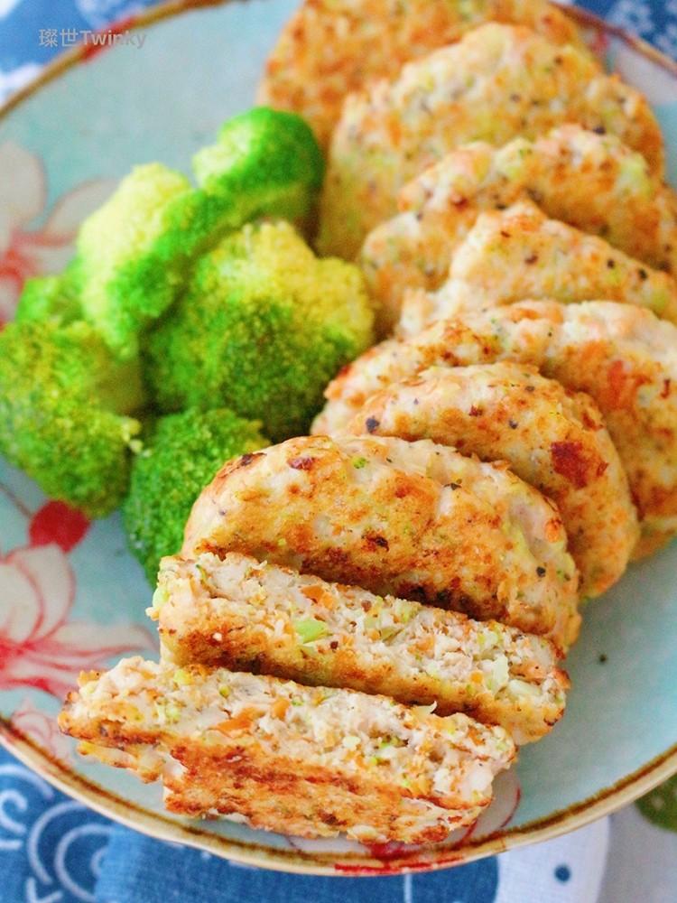 好吃的减肥餐‼️低卡鸡胸时蔬饼㊙️减肥必备图4