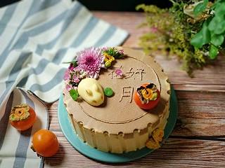 《花好月圆》月饼造型焦糖奶油蛋糕