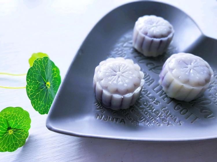你害怕传统月饼的高油高糖高热量吗?来试试藜麦紫薯冰皮月饼吧!图1