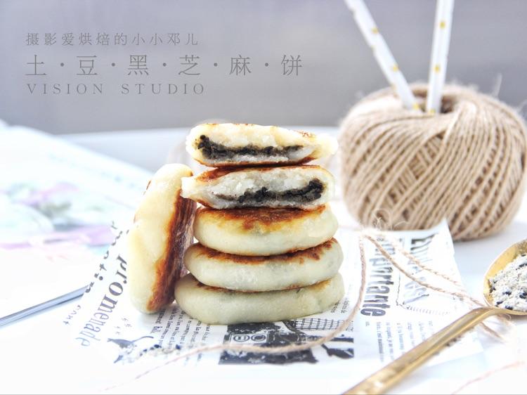 土豆黑芝麻糖饼,口感Q弹超级好吃图3