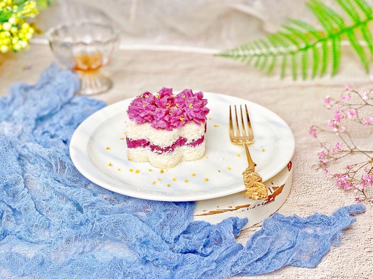 ㊙️高颜值✅低脂🔥紫薯雪蒸糕💯不用过筛图3