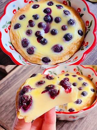 Lincf_v的🔥巨好吃,无需打发,一次就成功的爆浆蓝莓奶糕‼️